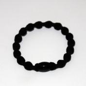 10 Pcs Black Elastic Hair Tie Hair Band+ Free Top-ishop Cable Tie