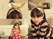 ACELIST Girl's Fashion Dolly Bow Rabbit Ear Wired Headband Hair Tie Bow