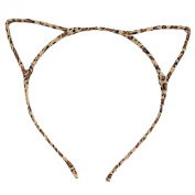 Acelist [Party Stars] Glitter Cracked Pattern Hair Band Fashion Headband Hair Hoop Fashionable Cat Ear