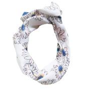 Sunward Women Girls Flower Rabbit Bow Hairband Turban Knotted Hair Band Hair Hoop Headband