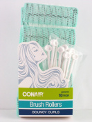 Conair Large Brush Hair Rollers With Pins - 10 Ct.