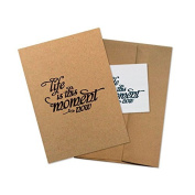 """Conscious Ink """"Life Is This Moment Now"""" Manifestation Tattoo Greeting Card With Temporary Tattoo"""