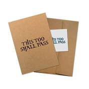 """Conscious Ink """"This Too Shall Pass"""" Manifestation Tattoo Greeting Card With Temporary Tattoo"""