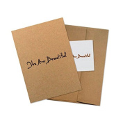 """Conscious Ink """"You Are Beautiful"""" Manifestation Tattoo Greeting Card With Temporary Tattoo"""