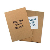 """Conscious Ink """"Follow Your Bliss"""" Manifestation Tattoo Greeting Card With Temporary Tattoo"""