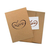 """Conscious Ink """"Love"""" Manifestation Tattoo Greeting Card With Temporary Tattoo"""