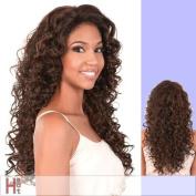 L. LUCY (Motown Tress) - Heat Resistant Fibre Lace Front Wig in DARKEST BROWN