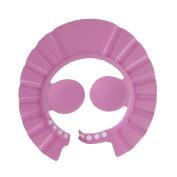 4U-Lucky Adjust Ear Protectors Shampoo Shower Bathing Bath Soft Cap Hat For Baby Children Kids, Pink