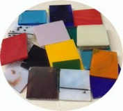 End Cut Spectrum Glass Sampler Pack #1, 96 COE, 0.1kg Bag, Made in America