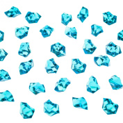 Acrylic Colour Ice Rock Crystals Treasure Gems for Table Scatters, Vase Fillers, Event, Wedding, Arts & Crafts, Birthday Decoration Favour (190 Pieces) by Super Z Outlet®