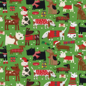Entertaining with Caspari 9661RC Merry Woofmas Continuous Gift Wrap Roll, 2.4m, Multicolor