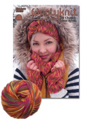 Charlotte Knitting Bundle Pack. Knitting Pattern and Wool Provided Is Enough to Make Headband, Mitts and Cowl!