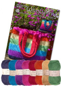 Rainbow Bag Knitting Bundle Pack. Knitting Pattern and Wool Provided Is Enough to Make One Bag