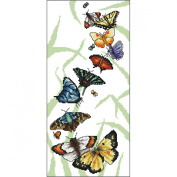 Butterfly Parade Counted Cross Stitch Kit-17cm x 36cm 16 Count