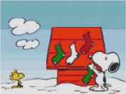 Peanuts Snoopy Merry Christmas Counted Cross Stitch Pattern