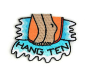 Hang Ten Summer Embroidered Sew or Iron-on Backing Patch