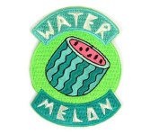 Watermelon Summer Embroidered Sew or Iron-on Backing Patch