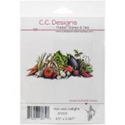 C.C. Designs DoveArt Harvest Delight Cling Stamp, 11cm x 5.1cm