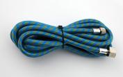 3m Braided Airbrush Air Hose 0.3cm - 0.6cm Adaptor fitting