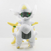 25cm 1pcs/set Pokemon Yellow Arceus Plush Toy Stuffed Figure Soft Stuffed Animal Plush Doll Toy