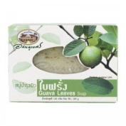 New Abhabibhubejhr Thai Guava Leaves Soap 100 G.