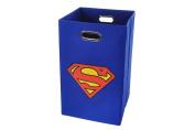 Superman Logo Folding Laundry Basket, Blue