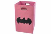 Batman Shield Folding Laundry Basket, Pink