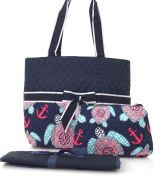 Turtle Print Quilted Nappy Bag