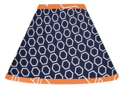 Orange and Navy Blue Lamp Shade for Arrow Bedding Collection