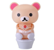 Taousa Creative mini lamp USB Rechargeable bear toilet LED Lamp night lights Gift for Children