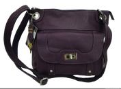 Concealed Carry Cross Body Leather Gun Purse with Slash Resistant Strap