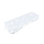 10 PCS Clear Beads Makeup Box 09487 Nail Art Small Parts Plastic Transparent Case Storage Organiser Containers Tackle Box
