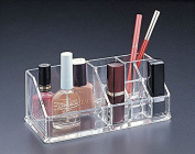 Acrylic Lucite Makeup organiser with 6 lipstick holder