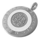 Catholic - 28 MM Round Saint Benedict Medal with white blue or black colour Enamel - Medalla San Benito - 1.1 Inches Diam
