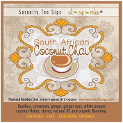 Serenity Tea Sips South African Coconut Chai - 120ml Rooibos Based Caffeine- Free Chai
