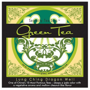 Serenity Tea Sips Lung Ching Dragon Well - 120ml loose leaf green tea with a vegetative aroma and chestnut notes