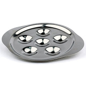Matfer Bourgeat Escargot Dish, 6 Compartments, 5PK Stainless Steel 062075