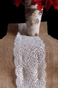 Vintage Burlap and Lace Style No.1 Table Runner