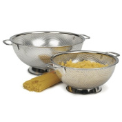 RSVP Precision Pierced Stainless-Steel 3 and 4.7l Colander Set