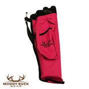 Muddy Buck Gear 3 Tube Codura Quiver Hot Pink