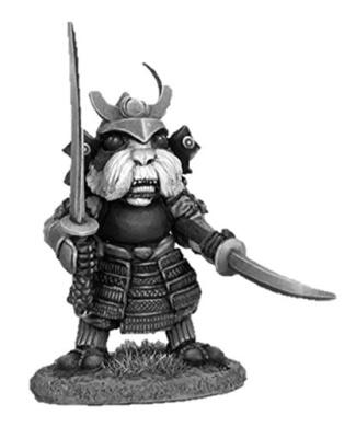 Dark Sword 28mm Miniature Visions in Fantasy Guinea Pig Samurai # 2