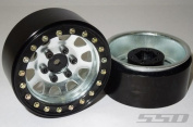 SSD 4.8cm Steel D Hole Wheels (Silver)
