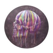 Anne Stokes Dripping Horror Blood Skull Skeleton 34cm Wall Clock Round Plate