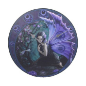 Anne Stokes Naiad Fairy Evening Yuletide Dragonfly Wall Clock Round Plate 34cm D