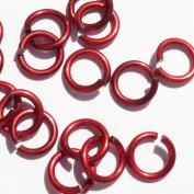 RED Anodized Aluminium Jump Rings 500 3/16 18g SAW CUT