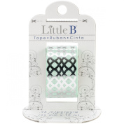 Little B 100408 Decorative Foil Paper Tape, Silver Honeycomb