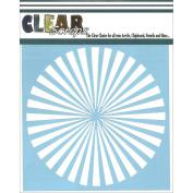 Clear Scraps CSSM6-SPRAL Translucent Plastic Film Stencil, Spiral, 15cm x 15cm
