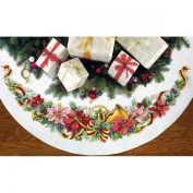Dimensions Crafts 70-08939 Needlecraft Holiday Harmony Tree Skirt in Counted Cross Stitch