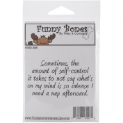 Riley & Company Funny Bones Cling Mounted Stamp 7.6cm x 3.8cm -Self-Control