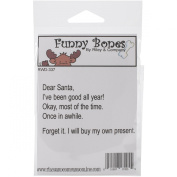 Riley & Company Funny Bones Cling Mounted Stamp 8.3cm x 4.4cm -Dear Santa